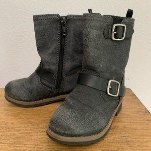Carter's Black Zip Boots